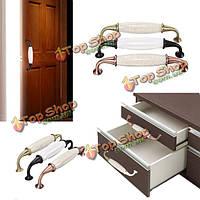Европа стиль керамические ручки двери мебели кухня шкаф шкаф ящик ручки