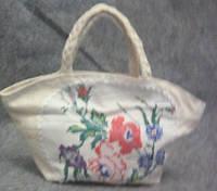 Детская тканевая сумка с вышивкой