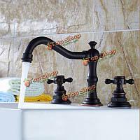 Современный духовой ванной бассейна кран смеситель масло втирают Бронзовый ручки отверстие