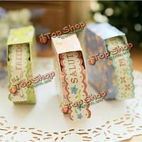 Цветочные кружева декоративный бумажный скотч цветной стикер украшения ленты