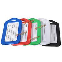 5 цветов чемодан багажные бирки Имя адрес ID этикетки карточки