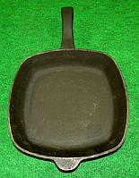 Сковорода чугунная с чугунной ручкой 260х260х45мм