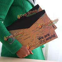 Канцелярские принадлежности Винтаж карта мира горизонтальный мешок бумажный скоросшиватель