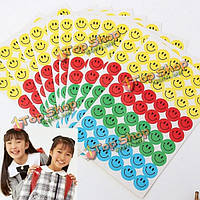 540шт детей улыбающиеся лица вознаграждение стикеры учителя хвалят инструмент