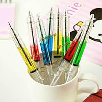 4шт шприц шариковая ручка иглы случайный цвет Заправка чернил синий масса новинка офис кровь школа смешно искусство подарок