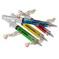 1шт шприц шариковая ручка иглы случайный цвет Заправка чернил синий масса новинка офис кровь школа смешно искусство подарок