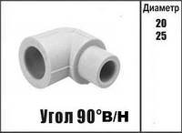 Колено полипропиленовое (Угол) внутренний/наружный Kalde Колено в/н ∅ 25 х 90°