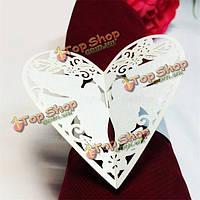 50шт лазерной резки бабочки форму кольца салфетки для обеда столы свадебного декора Дата рождения партии
