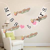 Пропустить госпоже сердце лапочка баннер висит гирлянда фото реквизит свадьба партии декор