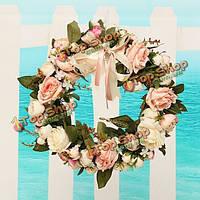 Искусственное моделирование пион цветочные дверь стена haning цветочный венок домой свадьба декор