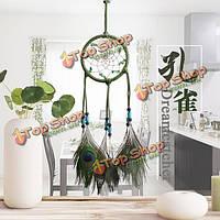 Ручной натуральный бирюзовые перья Dreamcatcher американские фолк-пользовательские подарки висит орнамент декора