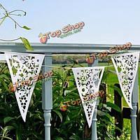 8м белый кружевной декор бумага овсянка сердце цветок баннер гирлянды свадьба