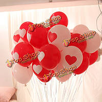 Воздушные шарики Сердце 100шт