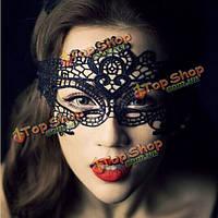 Кружевная маска черная