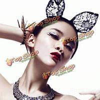 Оголовье маскарад партии косплей кружева cat уши волосы группы