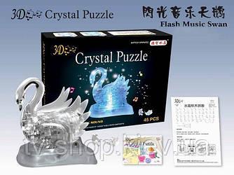 Лебедь Crystal Puzzle (свет,музыка) 3D головоломка