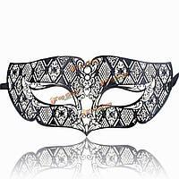 Черный металл маска алмазный глаз маскарад костюм мяч поставкы партии