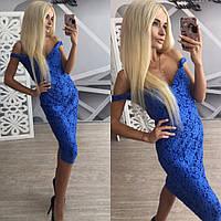 Женское шикарное платье из набивного кружева + большие размеры