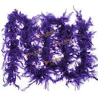 Боа из перьев фиолетовый 2 метра