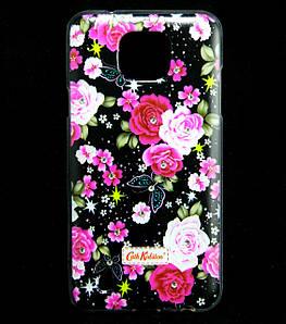 Чехол накладка для LG X Cam K580ds силиконовый Diamond Cath Kidston, Ночные розы