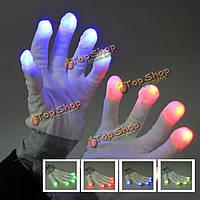 Светящиеся перчатки 7 режимов свечения