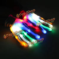 Многоцветные LED мигания перчатки электрический свет до рождества производительность танец Rave партии весело реквизит