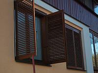 Ставни оконные из дуба и деревявянные окна в моем доме