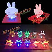 Кролик звезда лампа складной карты лампа мило LED свет карманные поздравительные открытки шарика бумажник