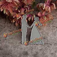 Шаблон любовь Плашки скрапбукинга DiY альбома трафареты бумажные карты свадебный декор