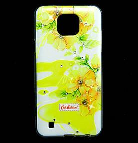 Чехол накладка для LG X Cam K580ds силиконовый Diamond Cath Kidston, Sun Flowers