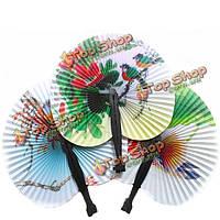 Веер китайский классический бумажный складной