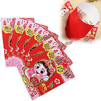 6шт умный Китайский квартал китайский праздник весны красный конверт повезло мешок денег Новый год