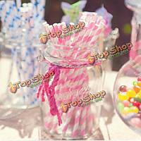 25шт бумажные соломинки для партии соломкой украшения день рождения свадьба поставки творческий бумажный соломинку