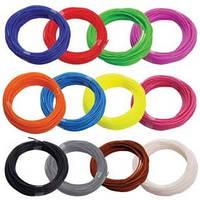 Набор ABS-пластика Люкс для 3d-ручки, 12 цветов, Large + 10м прозрачного пластика в подарок