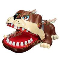 Укуса собаки рука смешной подарок игрушки для детей милый большой бульдог рот стоматолог