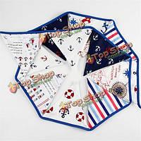 3.2m пират тема хлопчатобумажной ткани овсянка вымпел флаги баннер гирлянда свадьба день рождения декор
