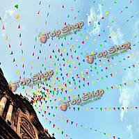 80м треугольник сортированный цвет декора вымпел флаги строка баннер овсянки день рождения
