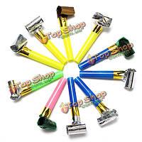 10шт партии воздуходувки бабло мешок наполнителя шум игрушки разных цветов фольги новогодние