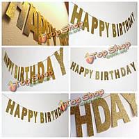 3 метра золотой баннер блестящие блестки С Днем Рождения баннер партия блестки декора фото фон