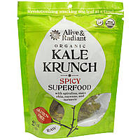Alive & Radiant, Органическая хрустящая капуста, пряный суперпродукт, 2,2 унции (63 г)