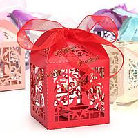 10шт пронзили клетка конфеты сладкий подарок коробка свадьба Cake коробки конфет