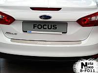 Накладка на задний бампер Ford Focus 2 (2005-2008) NataNiko