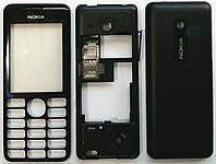 Корпус к мобильному телефону Nokia 206 full чёрный