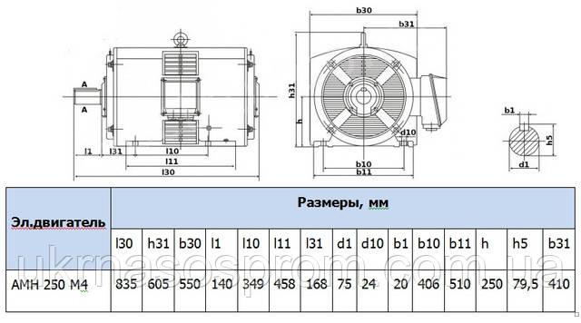 электродвигатель 4АМН250М4 5АМН250М4 цена производство