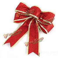 Лук порошок красный бантом поставки Новогоднее украшение