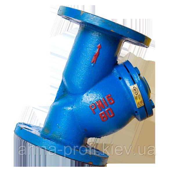 Фильтр сетчатый фланцевый чугунный MIV (Китай) Ду 100