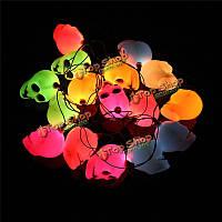 16 LED красочный строка череп свет лампы Хэллоуин бар deoration