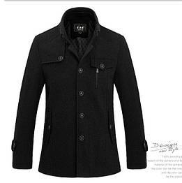 Мужское шерстяное весеннее пальто. Натуральная шерсть. Модель 802
