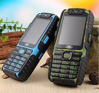 Противоударный защищенный телефон с большой батареей Land Rover A6 9800 мАч на 2 Sim +Фонарь