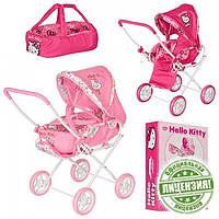 Коляска для кукол Хелло Китти HK 00025: сумка люлька, 2 вида, колеса 13 см, 51х35х60 см, 2+ лет